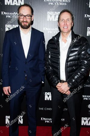 """Ken Scott and Andre Rouleau attend a screening of """"Delivery Man"""" hosted by The Cinema Society and DreamWorks Pictures on in New York"""