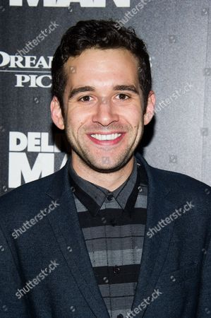 "Adam Chanler-Berat attends a screening of ""Delivery Man"" hosted by The Cinema Society and DreamWorks Pictures on in New York"