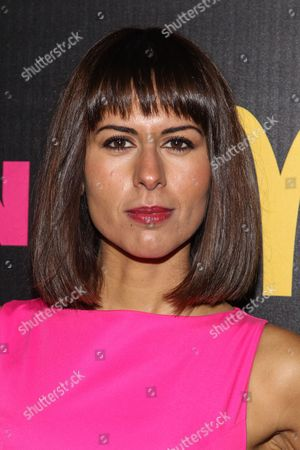 Stock Image of Actress Sabina Akhmedova arrives at the NYLON December/January Cover Launch Party Sponsored by McDonald's at Quixote Studios on in West Hollywood, CA
