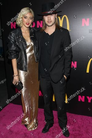 Caroline D'Amore and husband Bobby Alt arrive at the NYLON December/January Cover Launch Party Sponsored by McDonald's at Quixote Studios on in West Hollywood, CA