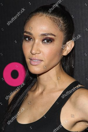 Model Naima Mora arrives at the NYLON December/January Cover Launch Party Sponsored by McDonald's at Quixote Studios on in West Hollywood, CA