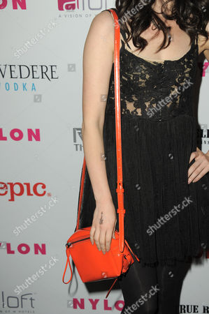 Actress Erica Dasher arrives at the Nylon Magazine: Summer Music Issue Celebration on in Los Angeles, Calif