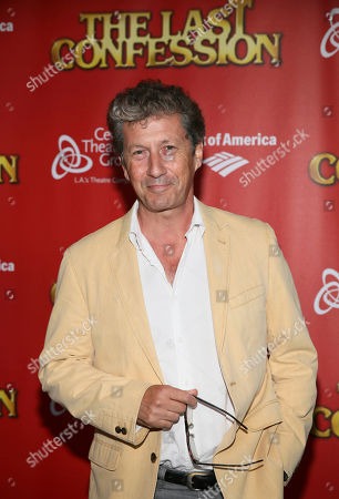 "Actor Charles Shaughnessy poses during the arrivals for the opening night performance of ""The Last Confession"" at the Center Theatre Group/Ahmanson Theatre, in Los Angeles, Calif"
