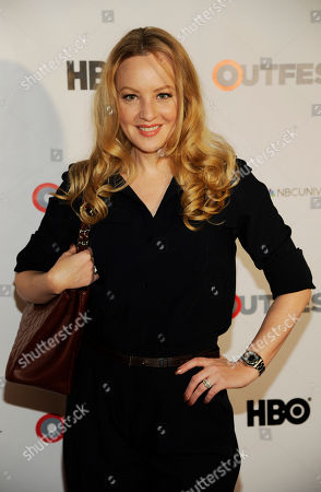 Stock Picture of Actress Wendy McLendon Covey poses at the Outfest 2014 Fusion LGBT People of Color Film Festival, in Los Angeles