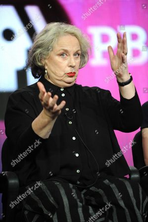 Pam Ferris attends the PBS Winter TCA Tour at the Langham Huntington Hotel, in Pasadena, Calif