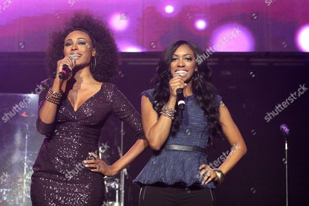 Porsha Stewart of Real Housewives of Atlanta performs as part of the The Power 96.1 Jingle Ball 2012 at Philips Arena, in Atlanta