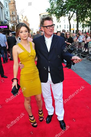Eloise Smyth and Cathal Smyth, also known as Chas Smash of Madness arrive at the world premiere of iLL Manors on in London