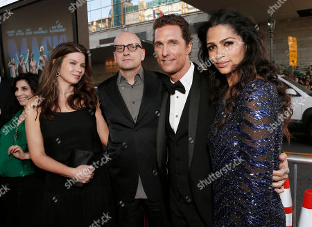 """Jules Asner, Director Steven Soderbergh, Matthew McConaughey and Camila McConaughey attend the premiere of """"Magic Mike"""" at Regal Cinemas L.A. Live on in Los Angeles"""