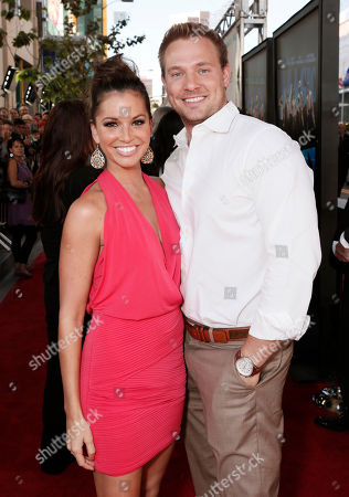 """Melissa Rycroft and Tye Strickland attend the premiere of """"Magic Mike"""" at Regal Cinemas L.A. Live on in Los Angeles"""