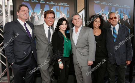 """Film Independent co-presidents Josh Welsh, Sean McManus, Warner Bros. President of Worldwide Marketing Sue Kroll, producer Gregory Jacobs, Los Angeles Film Festival director Stephanie Allain, and Los Angeles Film Festival artistic director David Ansen attend the premiere of """"Magic Mike"""" at Regal Cinemas L.A. Live on in Los Angeles"""