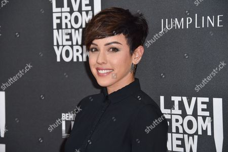 "Raychel Diane Weiner arrives at the Los Angeles Premiere Of ""Live from New York!"" - Arrivals at Landmark Theatres, Westside Pavilion, in Los Angeles"