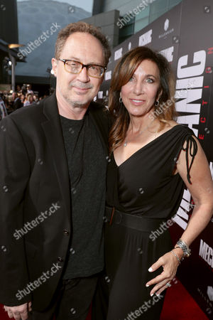 """Composer Mark Isham and Donna Isham seen at Los Angeles Premiere of """"Mechanic: Resurrection"""" from Lionsgate's Summit Premiere Label at ArcLight Hollywood, in Los Angeles"""