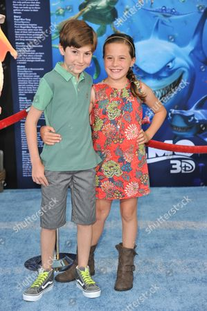 "Mason Cook, left and Georgia Cook attend the premiere of ""Finding Nemo"" 3D at the El Capitan Theatre, in Los Angeles"