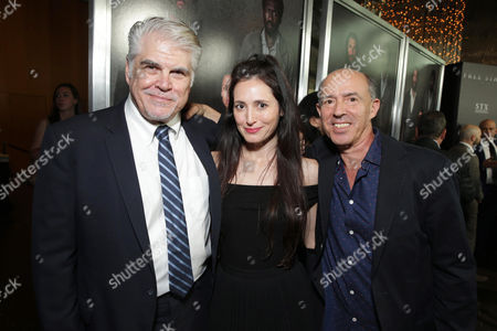 "Stock Photo of Writer/Director/Producer Gary Ross, Associate Producer Diana Alvarez and Producer Jon Kilik seen at Los Angeles Premiere of STX Entertainment ""Free State of Jones"" at DGA Theater, in Los Angeles"