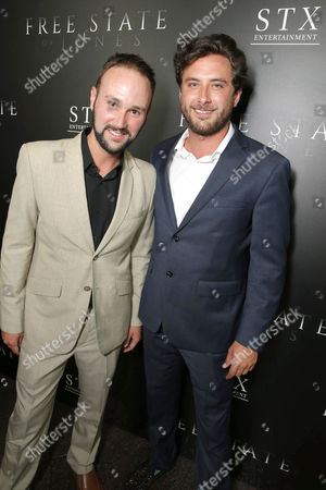 """Stock Photo of Joe Girard and Henry Frost seen at Los Angeles Premiere of STX Entertainment """"Free State of Jones"""" at DGA Theater, in Los Angeles"""