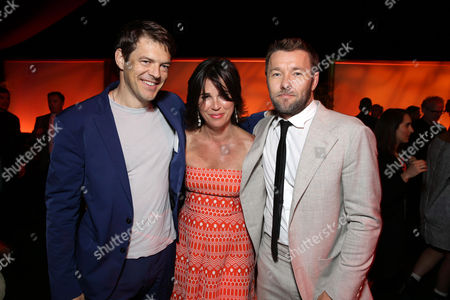 """Producer Jason Blum, Producer Rebecca Yeldham and Joel Edgerton seen at the Los Angeles Premiere of STX Entertainment """"The Gift"""" held at Regal Cinemas LA Live, in Los Angeles"""