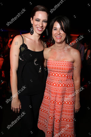 """Rebecca Hall and Producer Rebecca Yeldham seen at the Los Angeles Premiere of STX Entertainment """"The Gift"""" held at Regal Cinemas LA Live, in Los Angeles"""