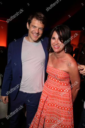 """Producer Jason Blum and Producer Rebecca Yeldham seen at the Los Angeles Premiere of STX Entertainment """"The Gift"""" held at Regal Cinemas LA Live, in Los Angeles"""