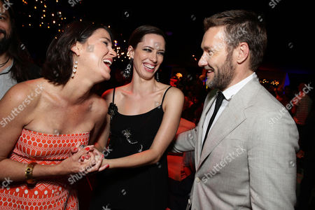 """Producer Rebecca Yeldham, Rebecca Hall and Joel Edgerton seen at the Los Angeles Premiere of STX Entertainment """"The Gift"""" held at Regal Cinemas LA Live, in Los Angeles"""