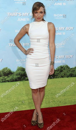 """Rebecca Marshall arrives at the premiere of """"That's My Boy"""" on in Los Angeles"""