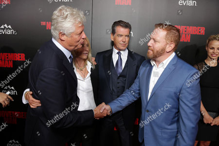 Director Roger Donaldson, Producer Beau St. Clair, Pierce Brosnan and Relativity Media CEO Ryan Kavanaugh seen at The World Premiere of 'The November Man'on at the TCL Chinese Theatre in Los Angeles