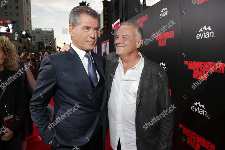 """Pierce Brosnan and Bill Smitrovich seen at The World Premiere of """"The November Man""""on at the TCL Chinese Theatre in Los Angeles"""