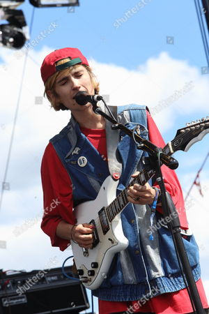 Stock Image of DIIV performs at The Sasquatch! Music Festival on in George, Washington
