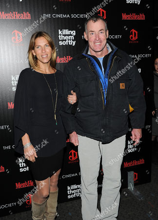 """Actor John McGinley and wife attend a special screening of """"Killing Them Softly"""" hosted by The Cinema Society, Men's Health and DeLeon at the SVA Theater on in New York"""