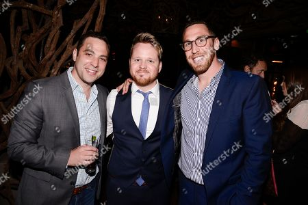 "From left to right, Grandma's House Entertainment co-founder and executive producer Ben Newmark, actor Ricky Mabe, and co-founder and executive producer Dan Newmark seen at the screening of IFC's new television series ""Gigi Does It"" at iPic Theaters on in Los Angeles"