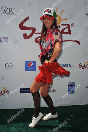Debbe Dunning arrives at the Seventh Annual George Lopez Celebrity Golf Classic at Lakeside Golf Club, in Toluca Lake, Calif