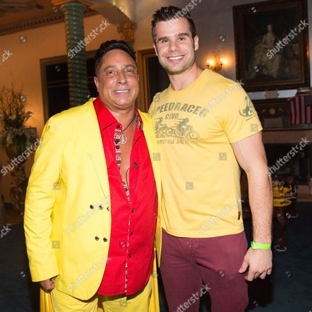 Sir Ivan and Jason Kringstein attend Sir Ivan's Midnight Sun Party at Castle On The Sun in Water Mill on in New York