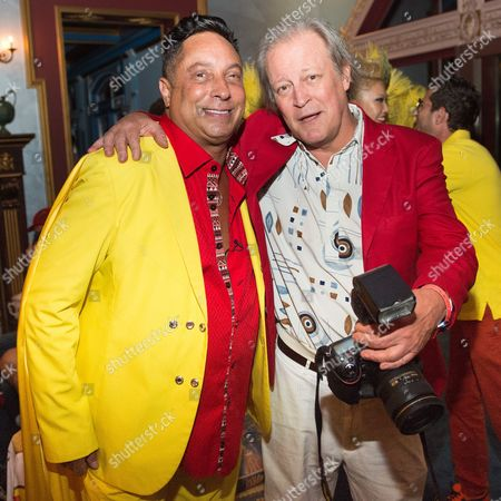 Sir Ivan and Patrick McMullan attend Sir Ivan's Midnight Sun Party at Castle On The Sun in Water Mill on in New York