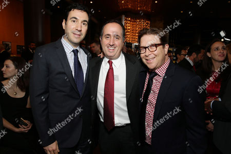 Producers Jon Gordon, Richard Suckle and writer/producer/actor Eric Warren Singer seen at the special screening of Columbia Pictures and Annapurna Pictures of American Hustle, on in Los Angeles