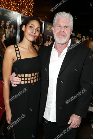 Opal Perlman and Ron Perlman seen at the special screening of Columbia Pictures and Annapurna Pictures of American Hustle, on in Los Angeles