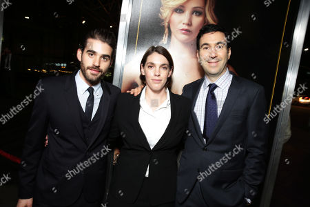 Executive producer Matthew Budman, producer Megan Ellison and producer Jonathan Gordon seen at the special screening of Columbia Pictures and Annapurna Pictures of American Hustle, on in Los Angeles