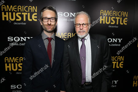 Costumer designer Michael Wilkinson and editor Jay Cassidy seen at the special screening of Columbia Pictures and Annapurna Pictures of American Hustle, on in Los Angeles