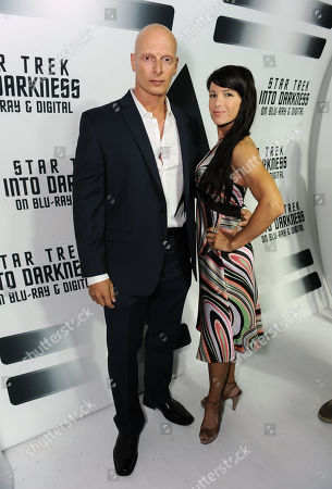 "Joseph Gatt, left, from the worldwide blockbuster ""Star Trek Into Darkness"" gathers with guest to celebrate the filmâ?™s home entertainment debut on Tuesday, Sept, 10, 2013 at the California Science Center in Los Angeles"