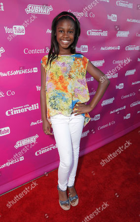 Stock Photo of Alexis Fowlkes attends the Summer With Cimorelli Season 1 Premiere at YouTube on Tuesday, June, 3, 2014, in Los Angeles
