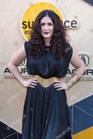 Stock Image of Morgan Kibby arrives at the Sundance NIGHT BEFORE NEXT Benefit at The Theatre at Ace Hotel, in Los Angeles