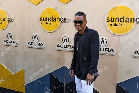 DJ Jace One arrives at the Sundance NIGHT BEFORE NEXT Benefit at The Theatre at Ace Hotel, in Los Angeles
