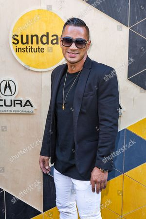 Stock Picture of DJ Jace One arrives at the Sundance NIGHT BEFORE NEXT Benefit at The Theatre at Ace Hotel, in Los Angeles