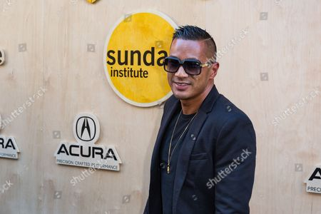 Stock Image of DJ Jace One arrives at the Sundance NIGHT BEFORE NEXT Benefit at The Theatre at Ace Hotel, in Los Angeles