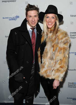 "Stock Picture of Daniel Koch Derek Koch and guest attend the ""Touchy Feely"" premiere party at The Shop during the Sundance Film Festival on in Park City, Utah"