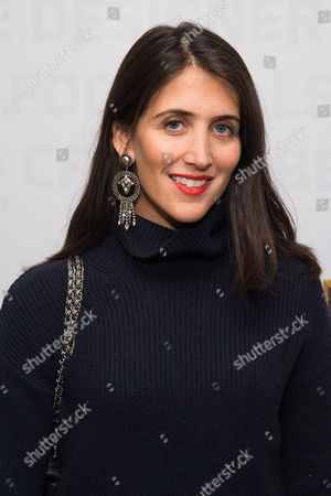 Stock Image of Jodie Snyder Morel attends an event to unveil Super Bowl 50 designer footballs in collaboration with the CFDA at NFL headquarters, in New York