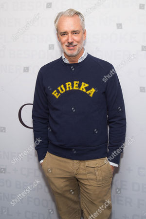 Stock Picture of Michael Bastian attends an event to unveil Super Bowl 50 designer footballs in collaboration with the CFDA at NFL headquarters, in New York