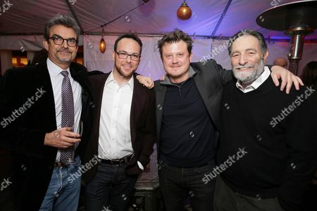 EXCLUSIVE Joshua Donen, Dana Brunetti, Beau Willimon, Eric Roth seen at Ted Sarandos' pre-Golden Globes Netflix toast on at the home of Ted Sarandos and Nicole Avant Sarandos