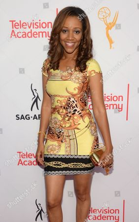 Chrystee Pharris seen at the Television Academy's 67th Emmy Awards Dynamic and Diverse Nominee Reception at the Montage Beverly Hills, in Beverly Hills, Calif