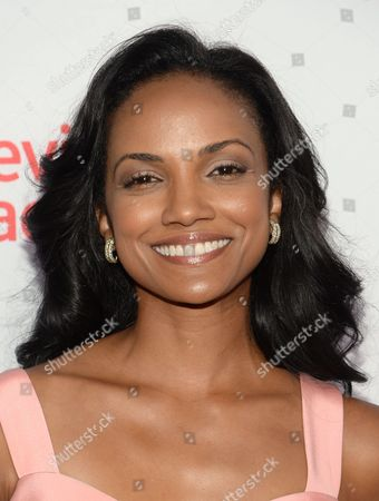Mekia Cox seen at the Television Academy's 67th Emmy Awards Dynamic and Diverse Nominee Reception at the Montage Beverly Hills, in Beverly Hills, Calif