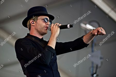 American singer songwriter producer Mayer Hawthorne (Andrew Mayer Cohen) performs at The Governors Ball Music Festival at Randall's Island Park on in New York