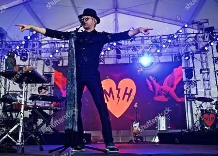American singer songwriter producer Mayer Hawthorne performs at The Governors Ball Music Festival at Randall's Island Park on in New York